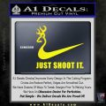 Nike Browning Just Shoot It Decal Sticker Yellow Laptop 120x120