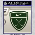 Nike Golf Decal Sticker Badge Dark Green Vinyl 120x120