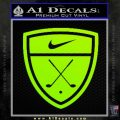 Nike Golf Decal Sticker Badge Lime Green Vinyl 120x120