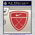 Nike Golf Decal Sticker Badge Red 120x120