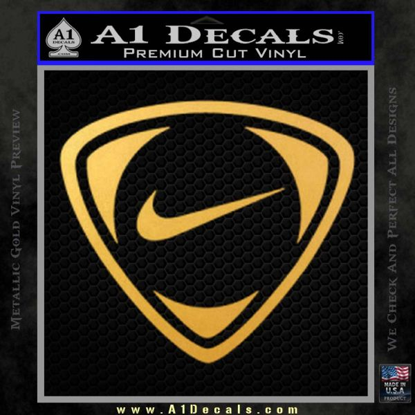 Nike Golf Decal Sticker TR Gold Vinyl