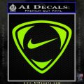 Nike Golf Decal Sticker TR Lime Green Vinyl 120x120