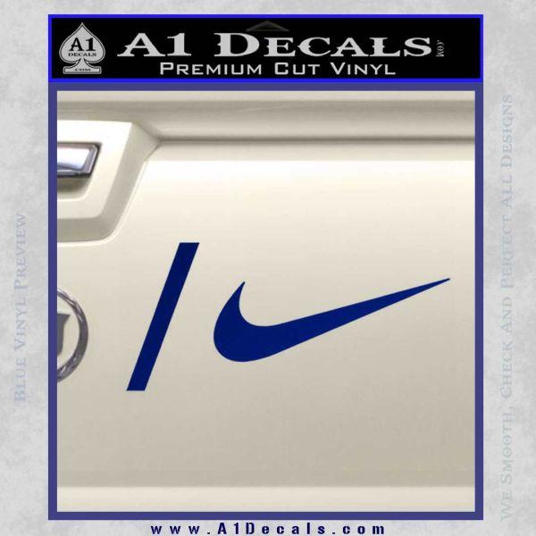 Nike Snowboarding Decal Sticker 2 Pack Blue Vinyl