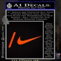 Nike Snowboarding Decal Sticker 2 Pack Orange Emblem 120x120
