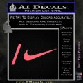Nike Snowboarding Decal Sticker 2 Pack Pink Emblem 120x120