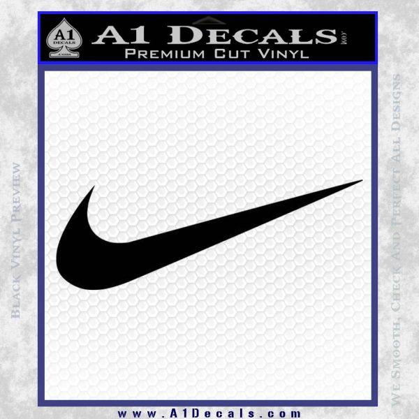 hot sale online d07af 5d907 ... Nike Swoosh 4 Pack Decal Sticker Black Vinyl 120x120 ...