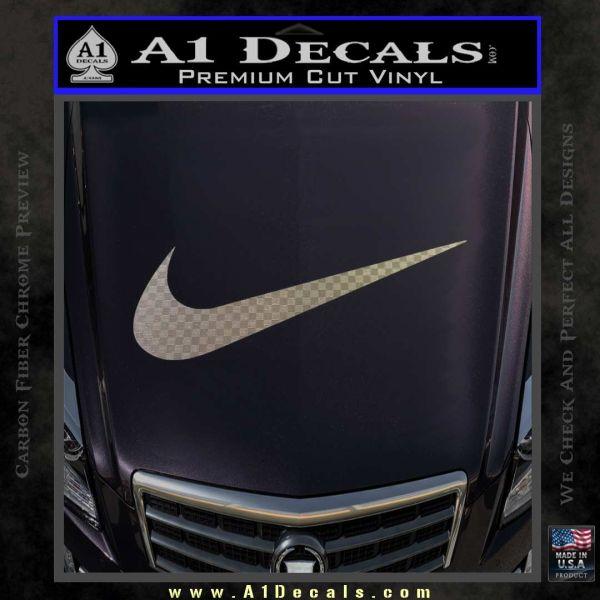 Nike swoosh 4 pack decal sticker carbon fiber chrome vinyl 120x120