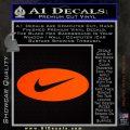 Nike Swoosh Decal Sticker Oval Orange Emblem 120x120