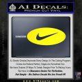 Nike Swoosh Decal Sticker Oval Yellow Laptop 120x120