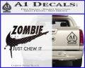Nike Zombie Just Chew It Decal Sticker Carbon FIber Black Vinyl 120x97