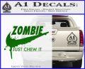 Nike Zombie Just Chew It Decal Sticker Green Vinyl Logo 120x97