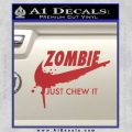 Nike Zombie Just Chew It Decal Sticker Red 120x120