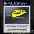 Nike Zombie Just Chew It Decal Sticker Yellow Laptop 120x120