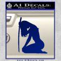 Ninja Girl Sword Decal Sticker Decal Sticker Blue Vinyl 120x120