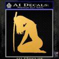 Ninja Girl Sword Decal Sticker Decal Sticker Gold Vinyl 120x120