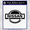 Nissan Decal Sticker Full Black Vinyl 120x120