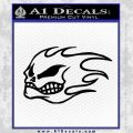 No Fear Flaming Skull Decal Sticker Black Vinyl 120x120
