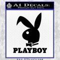 Playboy Bent Floppy Ear Full Decal Sticker Black Vinyl 120x120