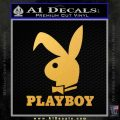Playboy Bent Floppy Ear Full Decal Sticker Gold Vinyl 120x120