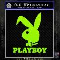 Playboy Bent Floppy Ear Full Decal Sticker Lime Green Vinyl 120x120