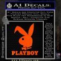 Playboy Bent Floppy Ear Full Decal Sticker Orange Emblem 120x120