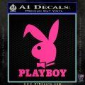 Playboy Bent Floppy Ear Full Decal Sticker Pink Hot Vinyl 120x120