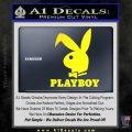 Playboy Bent Floppy Ear Full Decal Sticker Yellow Laptop 120x120