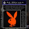 Playboy Bunny Head Decal Sticker Orange Emblem 120x120