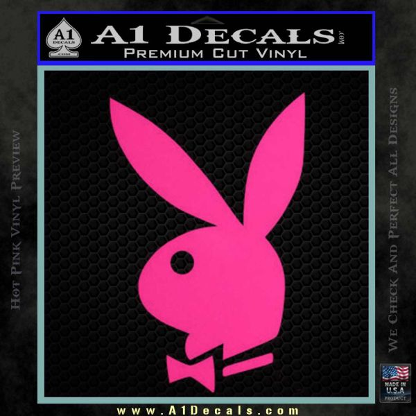 Playboy Bunny Head Decal Sticker Pink Hot Vinyl