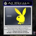 Playboy Bunny Head Decal Sticker Yellow Laptop 120x120
