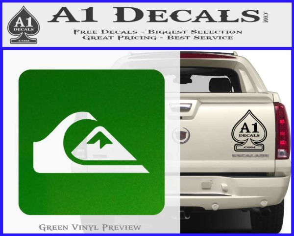 Quicksilver clothing decal sticker d5 green vinyl logo 120x97