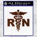 RN Nurse Caduceus Decal Sticker BROWN Vinyl 120x120