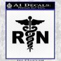 RN Nurse Caduceus Decal Sticker Black Vinyl 120x120