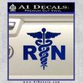 RN Nurse Caduceus Decal Sticker Blue Vinyl 120x120