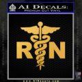 RN Nurse Caduceus Decal Sticker Gold Vinyl 120x120