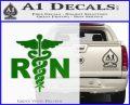 RN Nurse Caduceus Decal Sticker Green Vinyl Logo 120x97