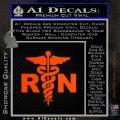 RN Nurse Caduceus Decal Sticker Orange Emblem 120x120