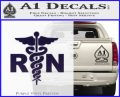 RN Nurse Caduceus Decal Sticker PurpleEmblem Logo 120x97