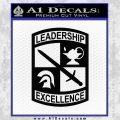 ROTC Decal Sticker Army Navy Marine Black Vinyl 120x120