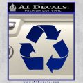 Recycling Decal Sticker TRI Blue Vinyl 120x120