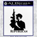 Republican Gun M16 Ak 47 Decal Sticker Black Vinyl 120x120
