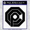 Robo Cop OCP Logo Decal Sticker Black Vinyl 120x120