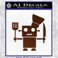 Robot Chef Cook D1 Decal Sticker BROWN Vinyl 120x120