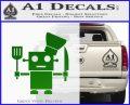 Robot Chef Cook D1 Decal Sticker Green Vinyl Logo 120x97