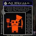 Robot Chef Cook D1 Decal Sticker Orange Emblem 120x120