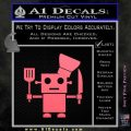 Robot Chef Cook D1 Decal Sticker Pink Emblem 120x120
