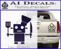 Robot Chef Cook D1 Decal Sticker PurpleEmblem Logo 120x97