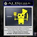 Robot Chef Cook D1 Decal Sticker Yellow Laptop 120x120