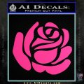 Rose Decal Sticker Pink Hot Vinyl 120x120