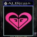 Roxy Heart Decal Sticker D1 Pink Hot Vinyl 120x120